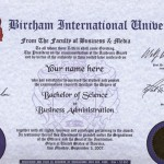 Bircham International Bachelor